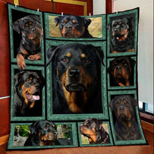 Load image into Gallery viewer, Cool Rottweiler T2407 - Quilt Blanket