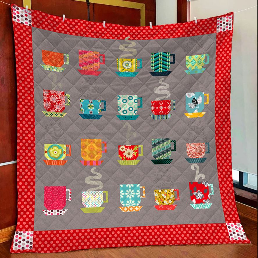 Different Cup Coffee T2407 - Quilt Blanket