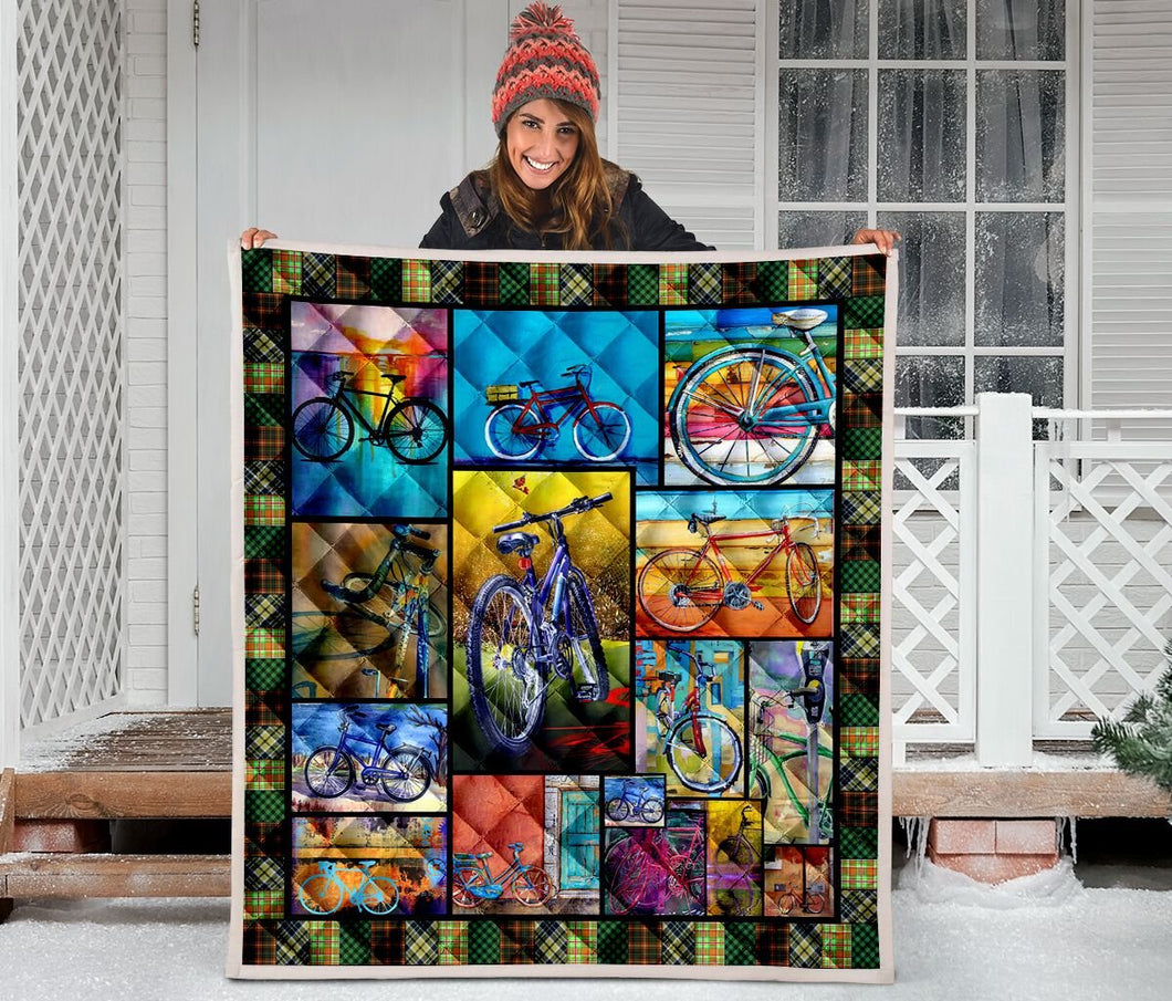 Love My Bicycle H247052 - Quilt Blanket