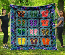 Load image into Gallery viewer, Funny Flip Flops H247053 - Quilt Blanket