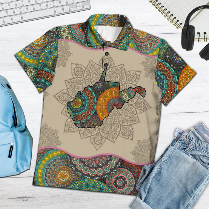 Awesome West Virginia Mandala H27713 - All Over Print Polo Shirt