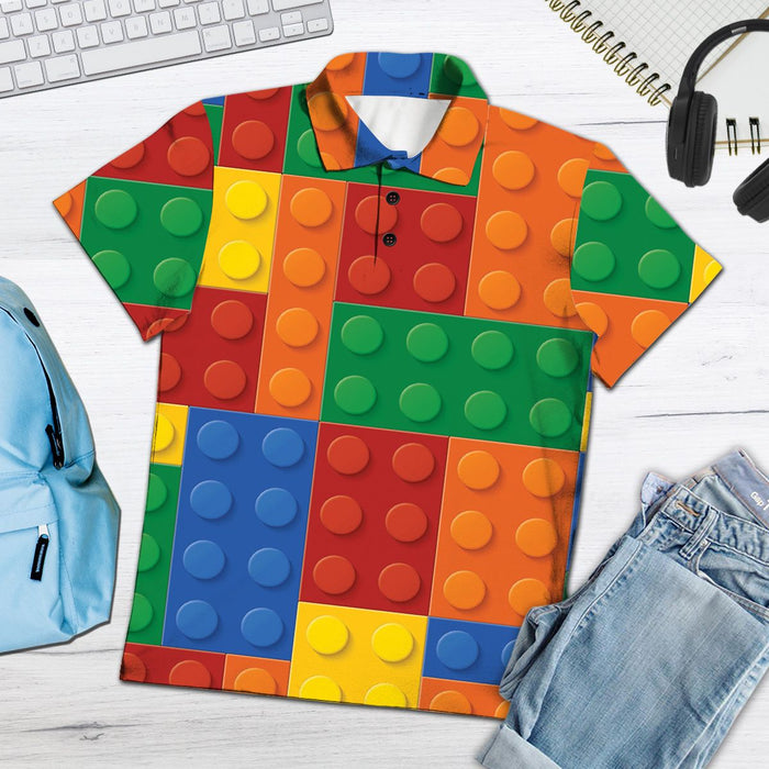 Amazing Lego H27712 - All Over Print Polo Shirt