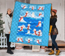 Load image into Gallery viewer, Polar Bear Family T2707 - Quilt Blanket