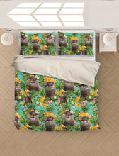 Load image into Gallery viewer, Tropical Pineapple Otter H27722 - Bedding Set