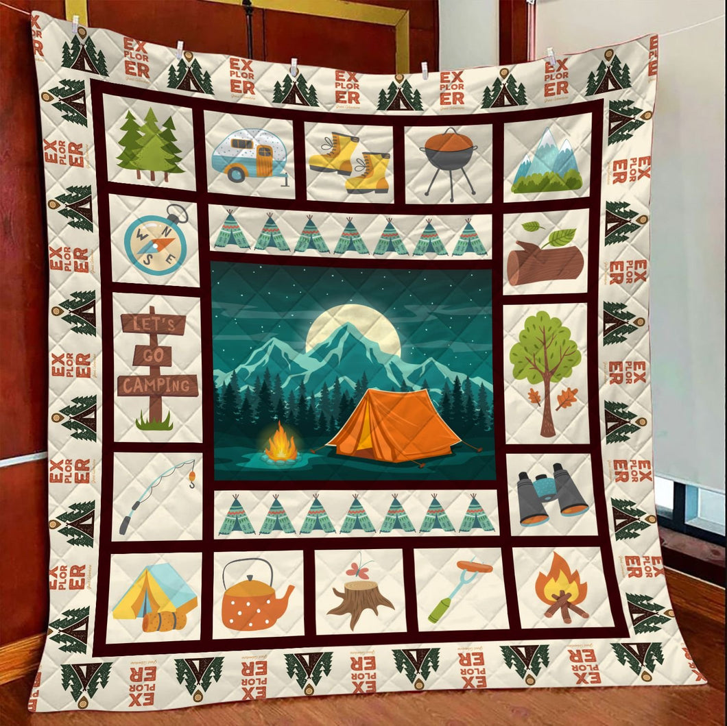 Camping Summer Time TY2907 - Quilt Blanket