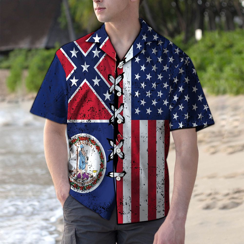 Virginia Confederate USA G5730- Hawaiian Shirt