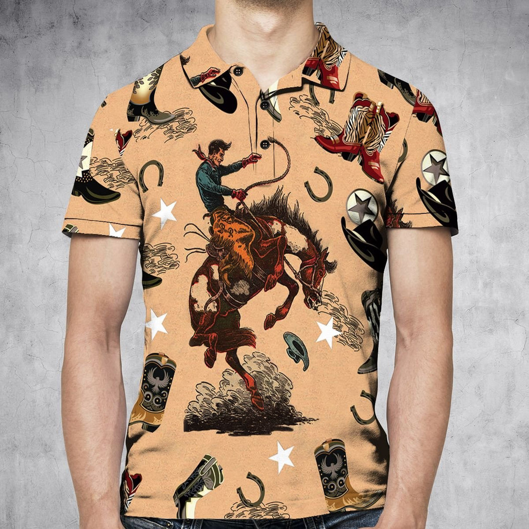 Cowboy Life H30760 - All Over Print Polo Shirt
