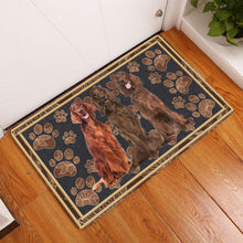 Load image into Gallery viewer, Irish Setter Floral Paw H5858 - Door Mat