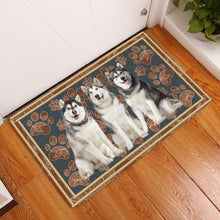 Load image into Gallery viewer, Alaskan Malamute Floral Paw H6817 - Door Mat