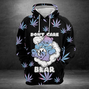 Don't Care Bear Cannabis G5907 - All Over Print Unisex Hoodie