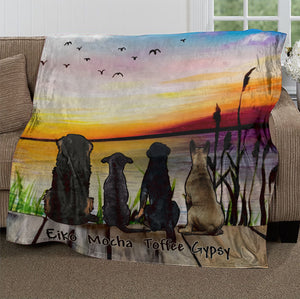 Custom Dog Ultra-Soft Micro Fleece Blanket Friends