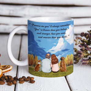 Custom Dogs Canvas And Mug Always Remember