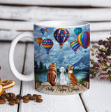 Custom personalized dog coffee mugs gift for dog dad mom pet lovers, dad lovers - Balloon Color Sky - PersonalizedWitch