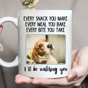 Custom Personalized Photo Dog Mom Dad Coffee Mugs Gift for dog owners lovers with pictures on - Watching Over Dog - PersonalizedWitch
