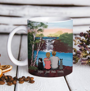 Custom personalized dog & owners coffee mug Pet remembrance print gift idea for the whole family - Beautiful Nature - PersonalizedWitch