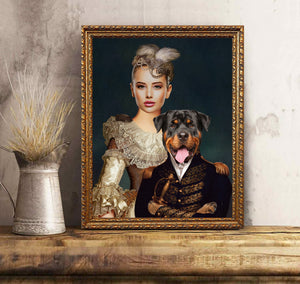 Custom Personalized Photo to canvas prints wall art Gift for dog mom owners lovers with pictures on Mother of Dogs - Dog Prince & Queen Portrait - PersonalizedWitch