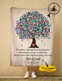 Custom personalized fleece blanket couple husband and wife gifts idea, Christmas, wedding anniversary birthday presents for loved one - Custom Family Anniversary Wedding Fleece Blanket - PersonalizedWitch