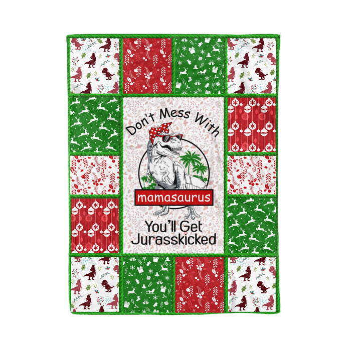 Don't Mess With Mamasaurus - Mother fleece blanket mother gift daughter gift son gift mother gift baby gift baby blanket family gift idea dinosaur lover gift t-rex lover gift idea