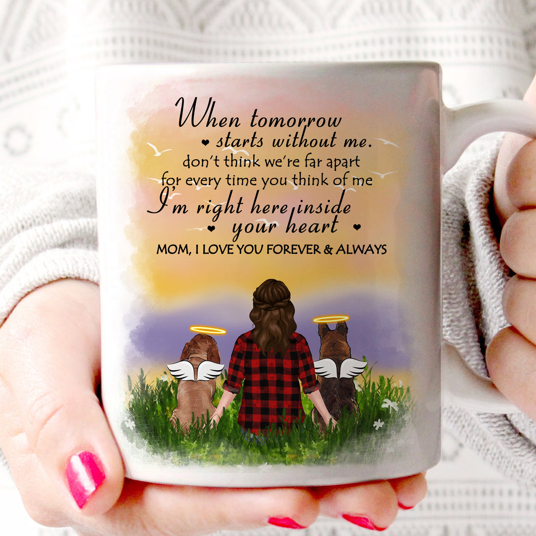 Custom personalized dog memorial coffee mugs Pet remembrance gift idea for dog mom dad pet lovers owner -  Dogs In Your Heart - PersonalizedWitch