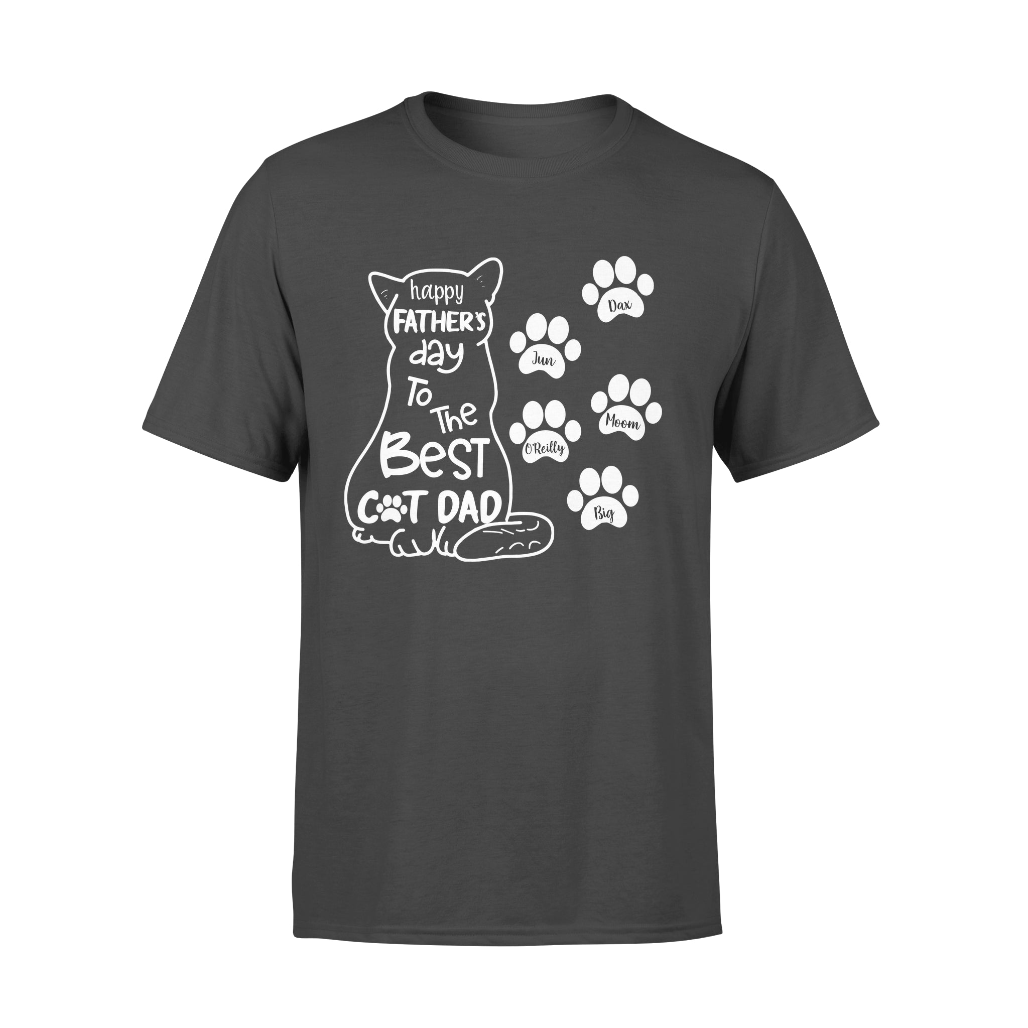Custom Personalized Cat Dad T Shirts Gift for humans cat owners lovers - Happy Father's Day Best Cat Dad - PersonalizedWitch
