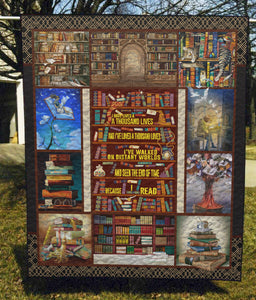 Books Are My Life - Quilt Blanket