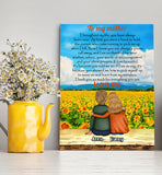 Custom personalized canvas prints wall art Mother's day gifts idea, Christmas, birthday presents for mom from daughter - Mom Thank You For Everything - PersonalizedWitch