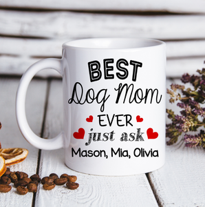 Custom personalized coffee mugs Father's day gifts idea, Christmas, birthday presents for dad from daughter - Custom Mug Best Mom Ever - PersonalizedWitch