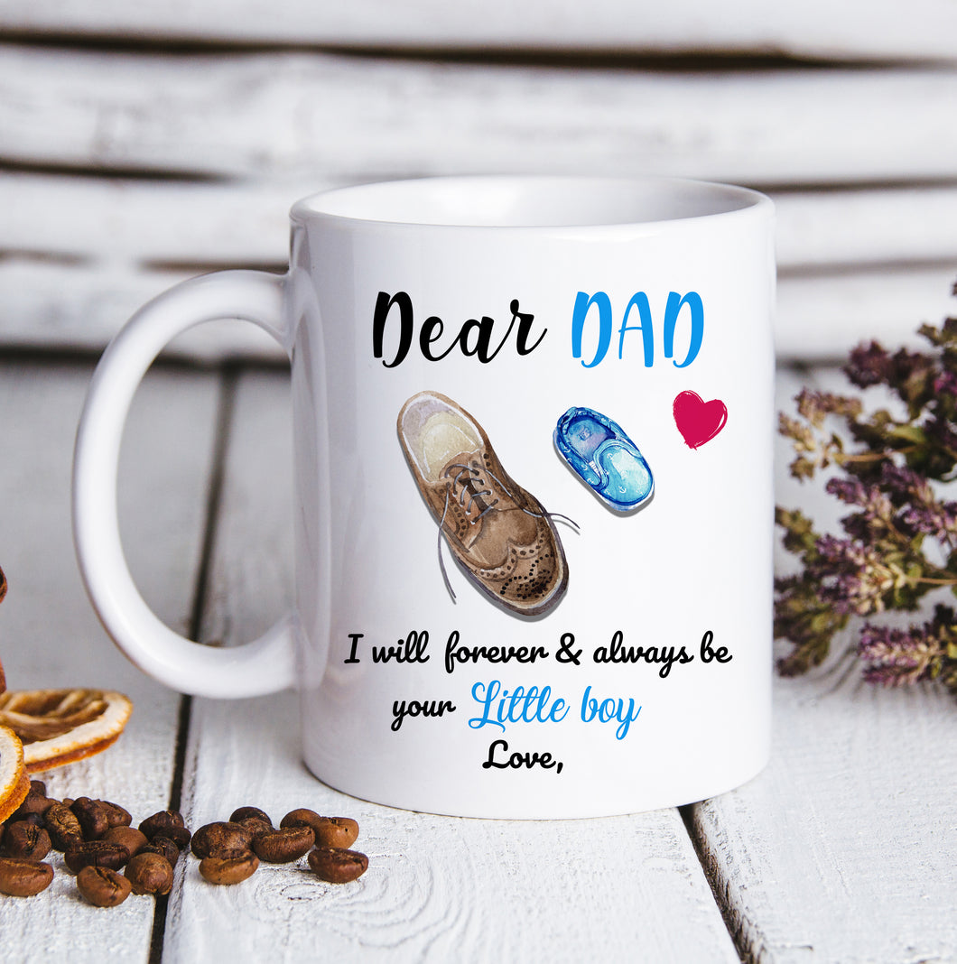 Custom personalized coffee mugs Father's day gifts idea, Christmas, birthday presents for dad from daughter - DadCustom Mug Little Girl - PersonalizedWitch
