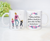 Custom personalized coffee mugs Mother's day gifts idea, Christmas, birthday presents for mom from daughter - Holds Heart Forever - PersonalizedWitch