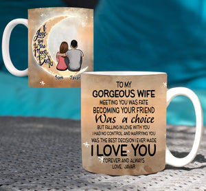 Custom personalized coffee mugs couple husband and wife gifts idea, Christmas, wedding anniversary birthday presents for loved one - Custom Mug To My Gorgeous Wife - PersonalizedWitch