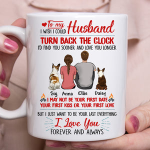 Custom personalized dog & owners coffee mug Pet remembrance print gift idea for the whole family - To My Husband I Love You - PersonalizedWitch