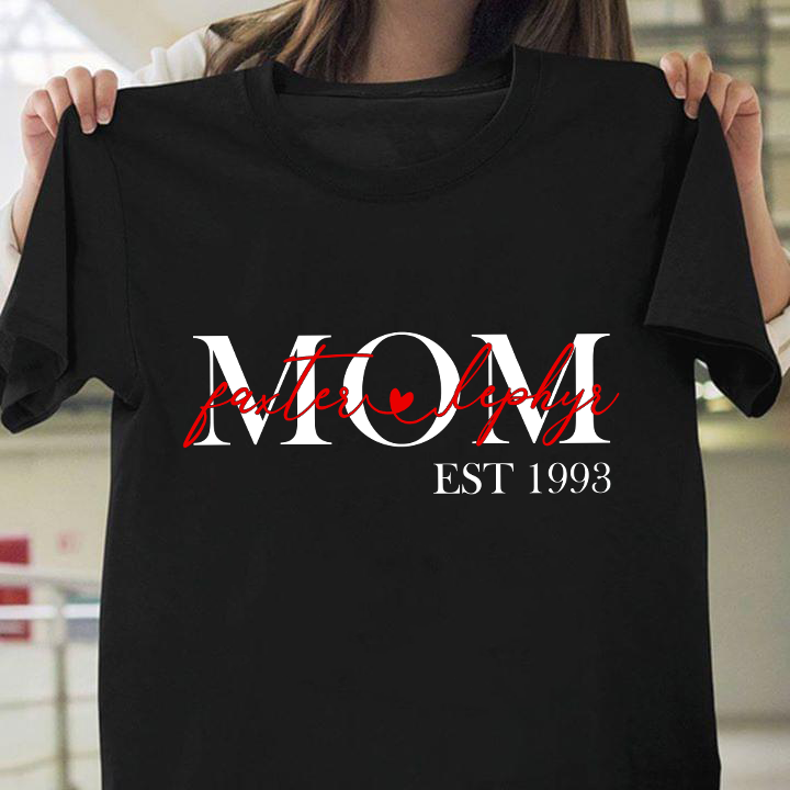 Custom T-shirt Mom Of Children