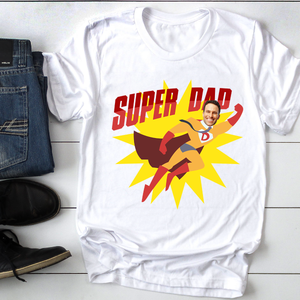 Custom personalized funny grandpa & dad Tee shirts printing father's day, birthday gift for world's best dad - CUSTOM T-SHIRT SUPER DAD - PersonalizedWitch