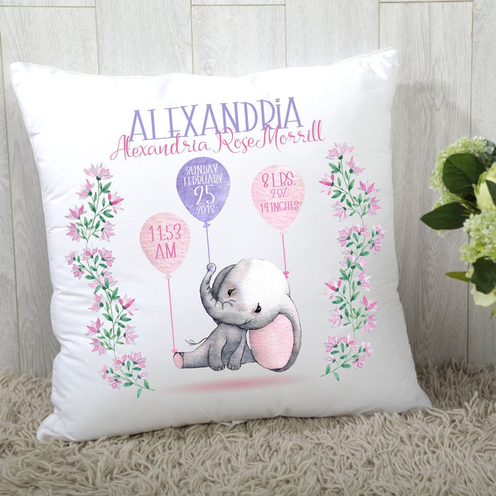 Pillow Mother's day Father's day unique gift ideas for mom & dad from daughter & son kids, meaningful birthday presents -  Custom Zippered Pillow Baby Birthday (Twin Sides)