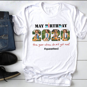 Custom personalized photo T shirts birthday gifts for the whole family and best friends - May Birthday - Personalizedwitch