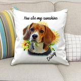 Custom personalized photo dog zippered pillows gifts for dog dad pet lovers, dog lovers - Dog Face - PersonalizedWitch