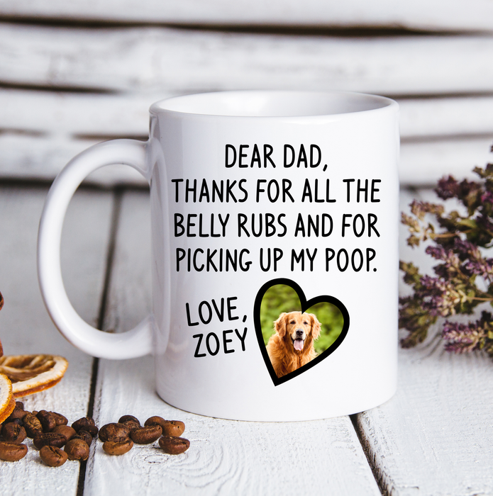 Custom Personalized Photo Dog Mom Dad Coffee Mugs Gift for dog owners lovers with pictures on - Dog Dad Gift - PersonalizedWitch