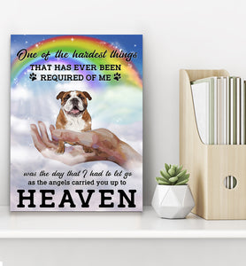 Custom personalized dog memorial photo to canvas print wall art Pet remembrance gift idea for dog mom dad pet lovers owner- Dogs Angel Heaven - PersonalizedWitch