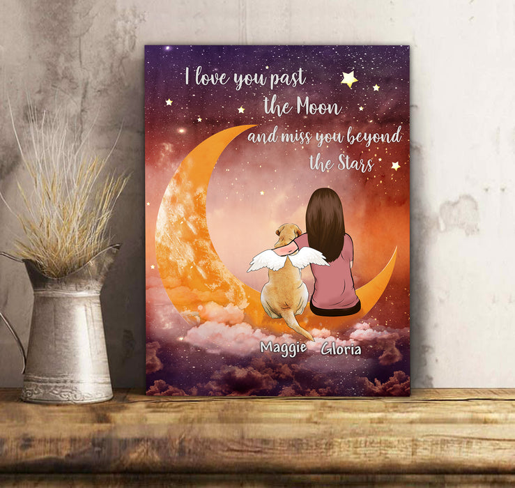 Dogs Miss You Beyond Stars - Personalized custom dog canvas print Pet canvas Mother gift idea dog lover gift