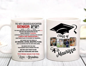 Custom personalized photo graduation coffee mugs funny gifts for senior, family, best friends & graduated class - Senior 2020 You Were Made For This - PersonalizedWitch
