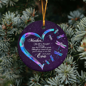 Memorial Mother You left us beautiful memories HT101219 - Personalized Family Ornament Family Friends Memorial Gift Custom Christmas Accessories