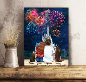 Firework Festival - Personalized custom dog canvas print Pet canvas Mother gift idea dog lover gift