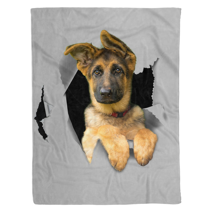Fleece Blanket Mother's day Father's day unique gift ideas for mom & dad from daughter & son kids, meaningful birthday presents -  German Shepherd Fleece Blanket - Dog lovers, dog gift, birthday gift, pet, pet lovers animal