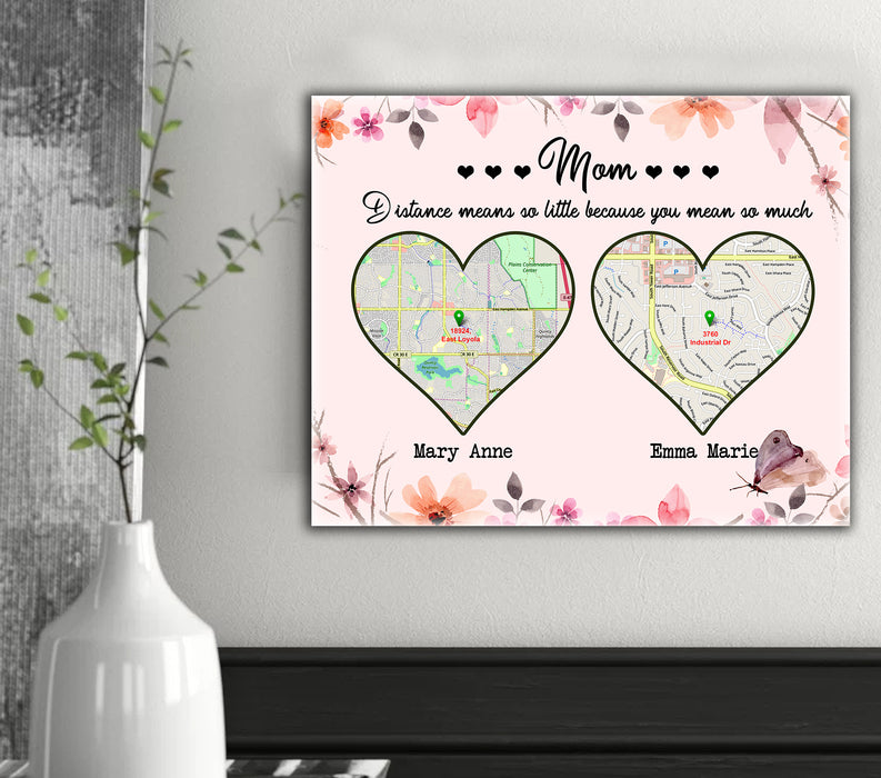 Custom personalized canvas prints wall art Mother's day gifts idea, Christmas, birthday presents for mom from daughter, son - Heart Love - PersonalizedWitch