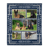 German Shepherd Fleece Blanket - Mother gift idea dog lover gift
