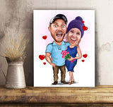 Custom personalized couple canvas prints wall art husband and wife gifts idea, Christmas, wedding anniversary birthday presents for loved one - Funny Couple - PersonalizedWitch