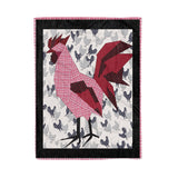 Life is good with rooster Fleece Blanket Rooster lover cute gift mother gift mother's day gift family gift