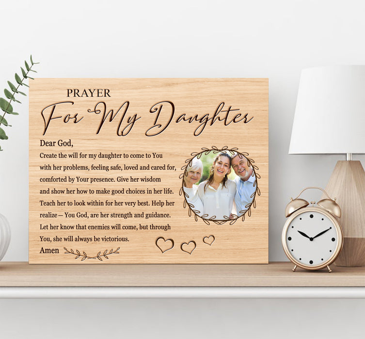 Custom personalized photo to canvas prints wall art gifts idea, pictures on canvas Christmas, birthday presents for daughter & son - Prayer For Daughter - PersonalizedWitch