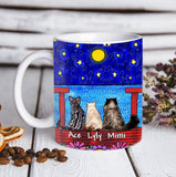 Custom personalized cat coffee mugs gift for cat dad mom pet lovers, cat lovers - Cat And  Red Bridge - PersonalizedWitch