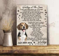 Custom personalized dog memorial photo to canvas print wall art Pet remembrance gift idea for dog mom dad pet lovers owner- Forever In My Heart - PersonalizedWitch